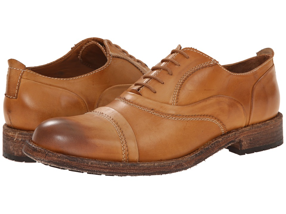 Messico - Emilio (Honey Rustic Leather) Men's Dress Flat Shoes
