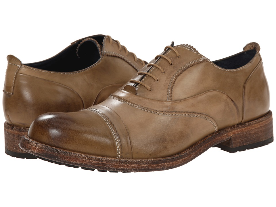 Messico - Emilio (Olive Rustic Leather) Men's Dress Flat Shoes