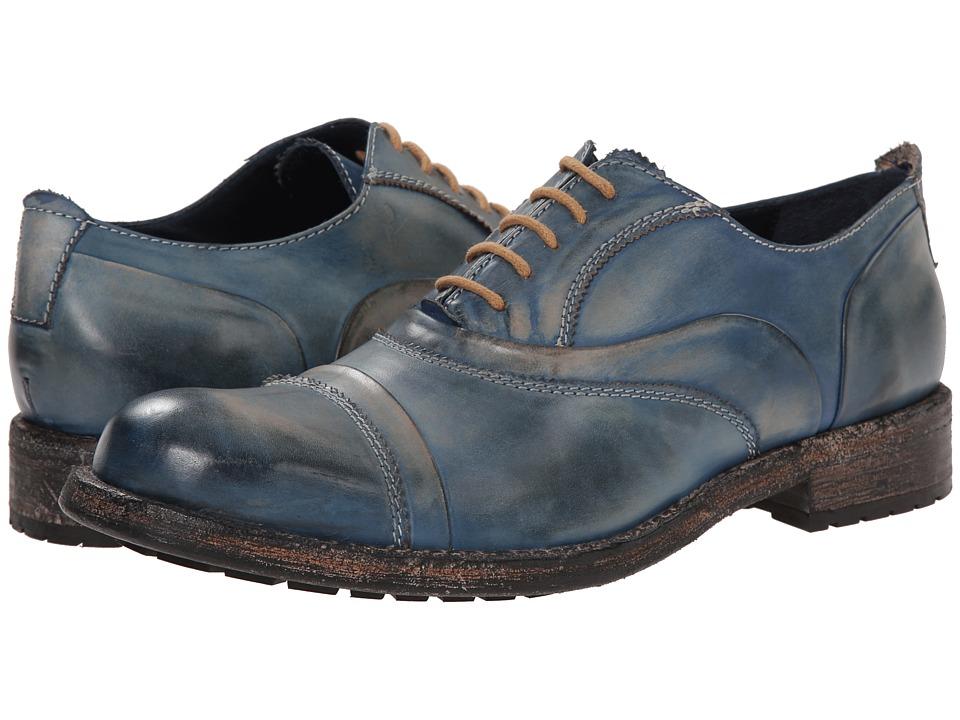 Messico - Emilio (Blue Rustic Leather) Men's Dress Flat Shoes