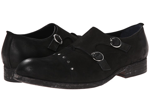 Messico - Eduardo (Black Leather) Men's Dress Flat Shoes