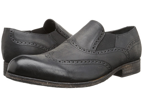 Messico - Nicolas (Black Leather) Men's Dress Flat Shoes