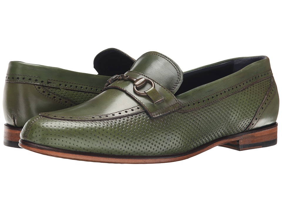 Messico - Josue (Olive Leather) Men's Dress Flat Shoes