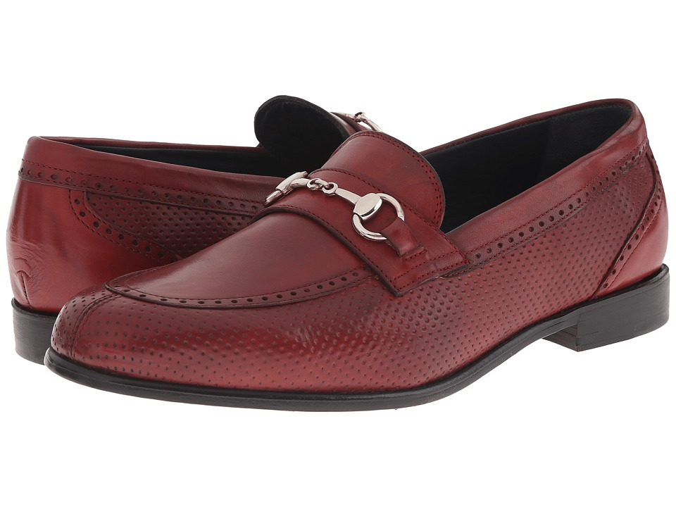 Messico - Josue (Red Leather) Men's Dress Flat Shoes