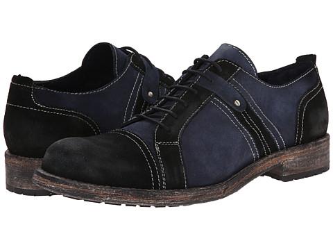 Messico - Lucian (Black/Navy Vintage Suede) Men's Dress Flat Shoes
