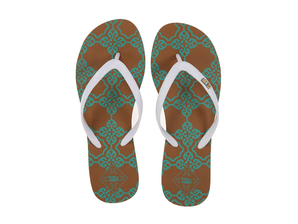 Freewaters Tropea Print (White/Teal Print) Women