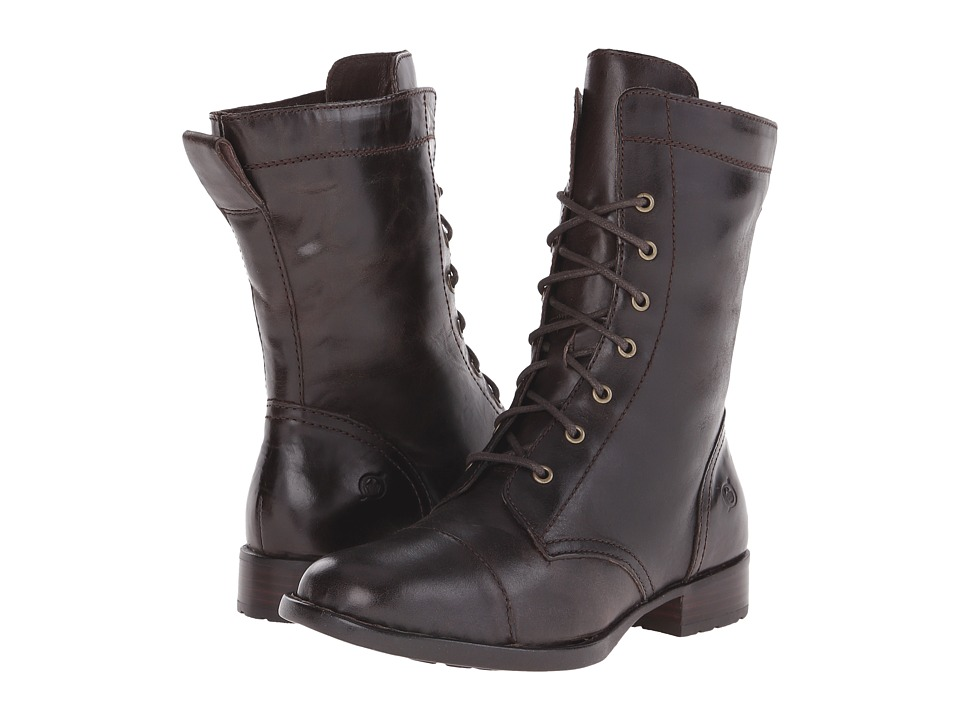 Born Livingston (Mushroom/Dark Brown Full Grain Leather) Women