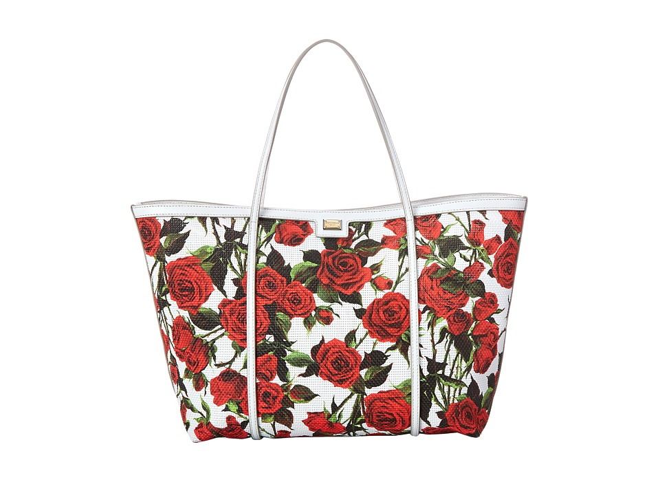Dolce & Gabbana - Escape (White Flowers Print) Tote Handbags
