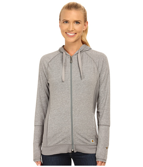 Carhartt - Force Zip-Front Hoodie (Asphalt Heather) Women's Sweatshirt