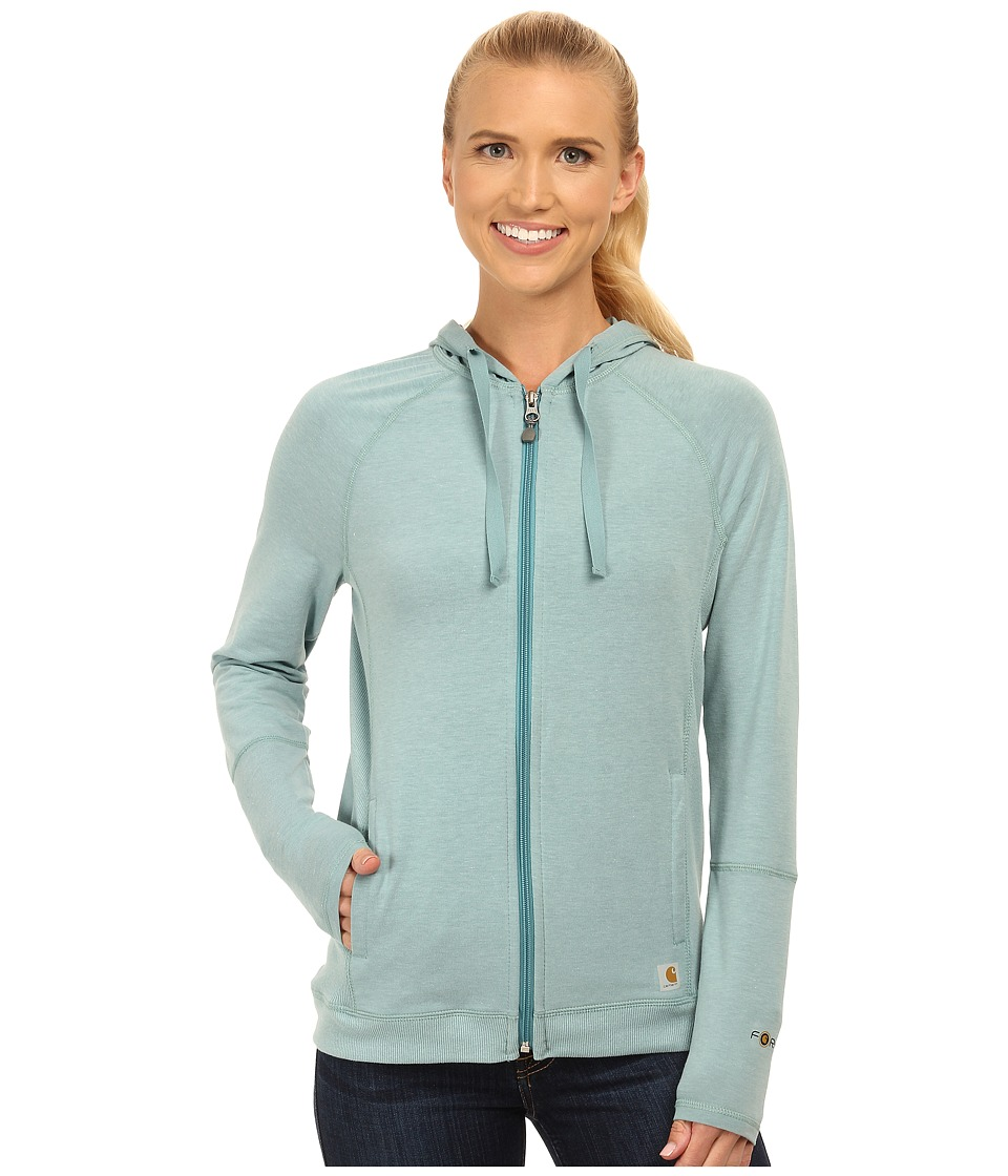 Carhartt - Force Zip-Front Hoodie (Coach Blue Heather) Women's Sweatshirt