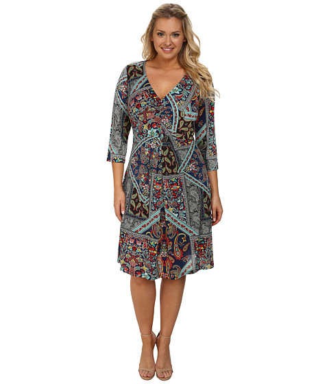 Poppy & Bloom - Spring Forward Dress (Multicolor Blue/Red/Orange) Women