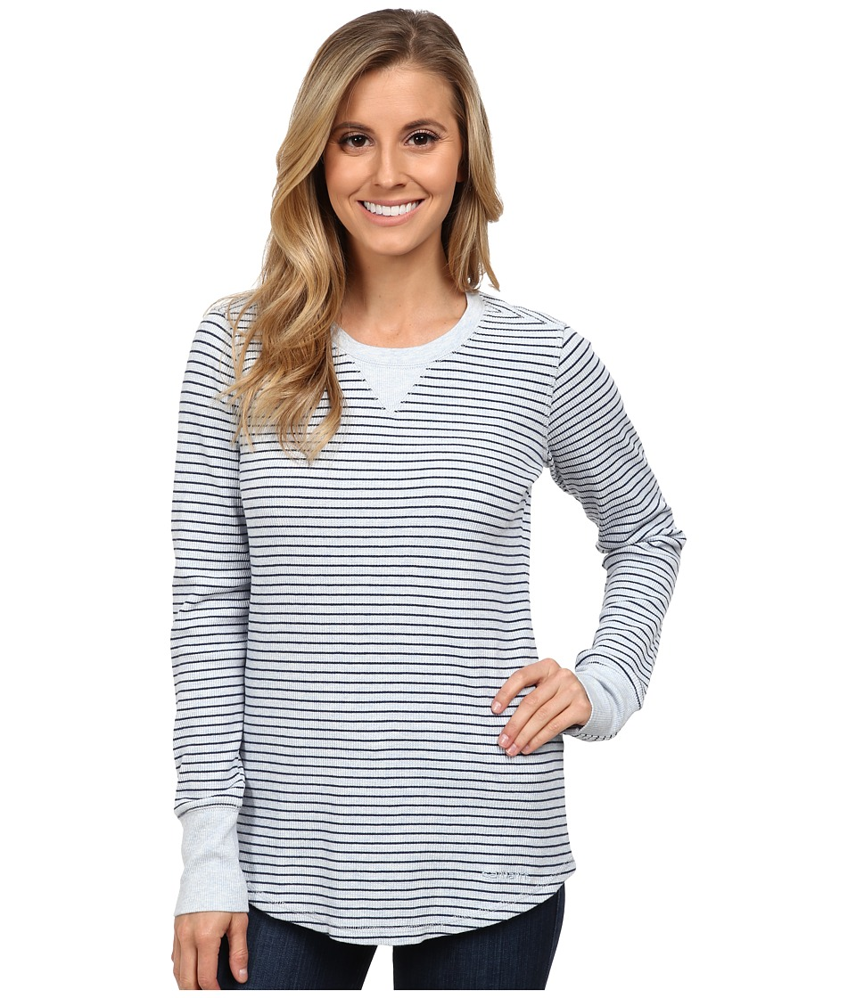 Carhartt - Hayward T-Shirt/Striped Top (Soft Blue Heather) Women's Long Sleeve Pullover