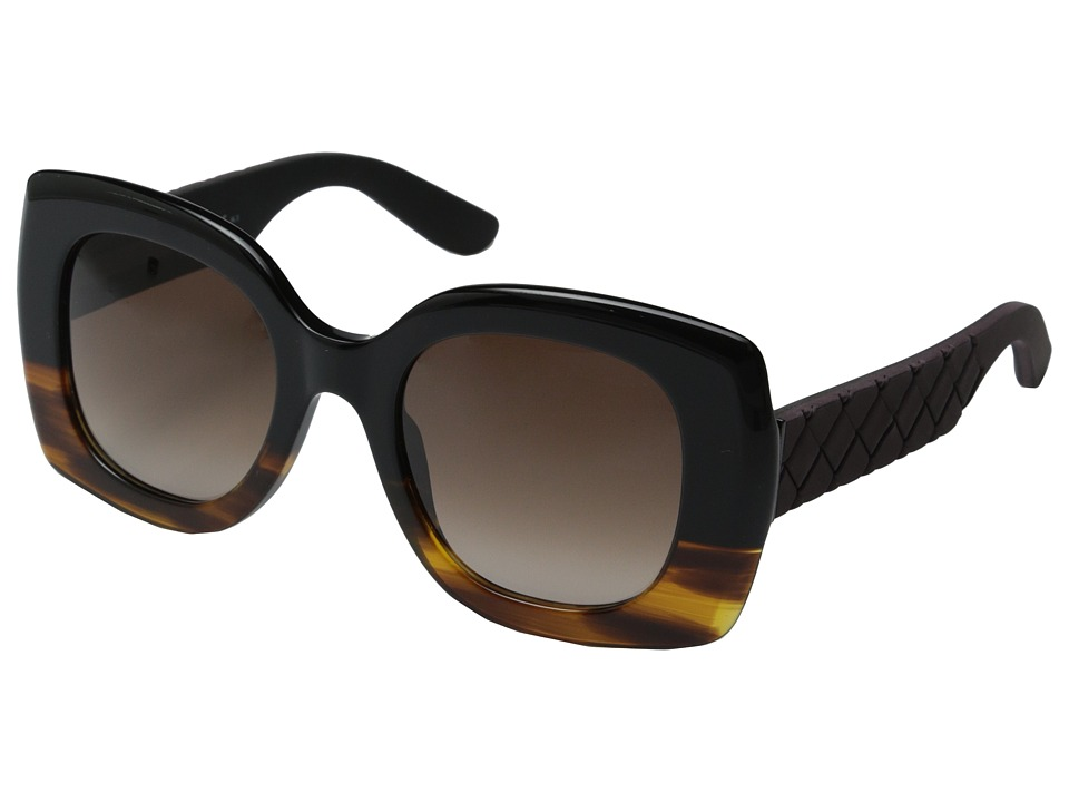 Bottega Veneta - BV 299 (Black Havana/Brown Gradient) Fashion Sunglasses