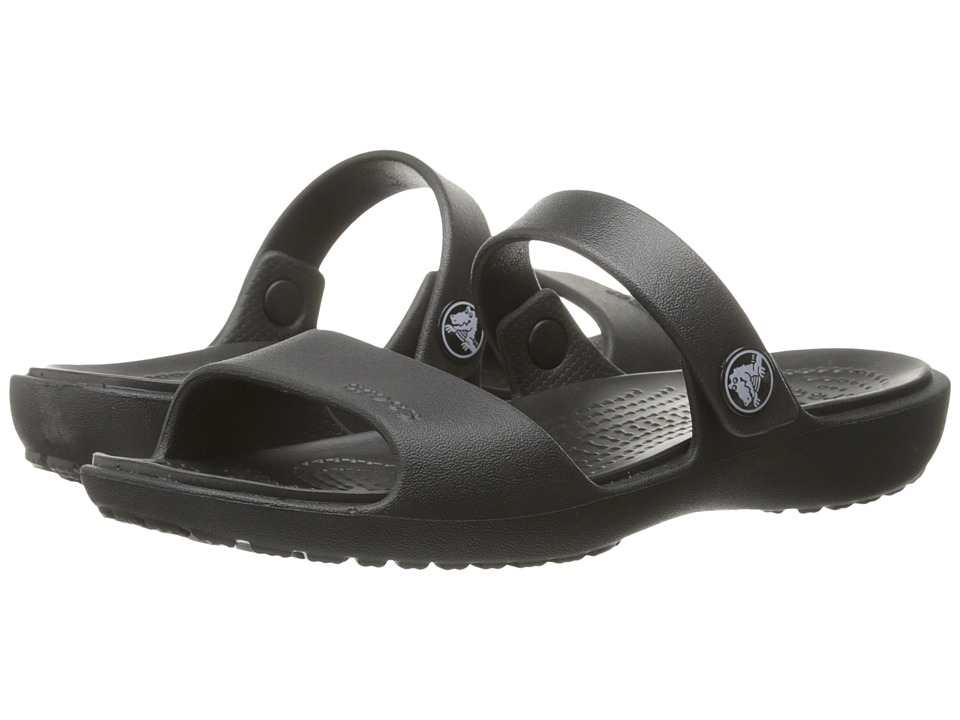 Crocs - Coretta Sandal (Black/Black) Women's Sandals