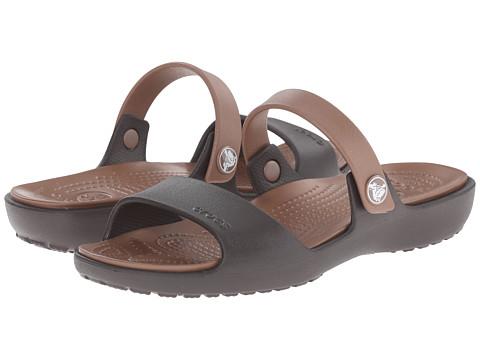 Crocs - Coretta Sandal (Espresso/Bronze) Women's Sandals