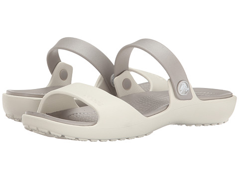 Crocs - Coretta Sandal (Oyster/Platinum) Women's Sandals