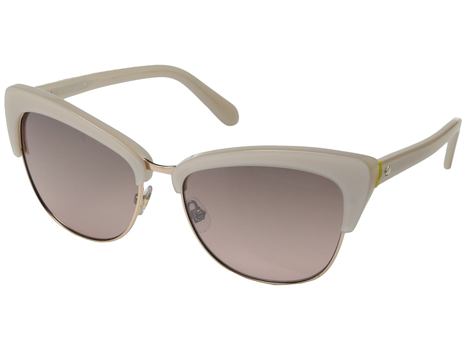 Kate Spade New York - Genette/S (Beige/Rose Shade/Silver Mirror) Fashion Sunglasses