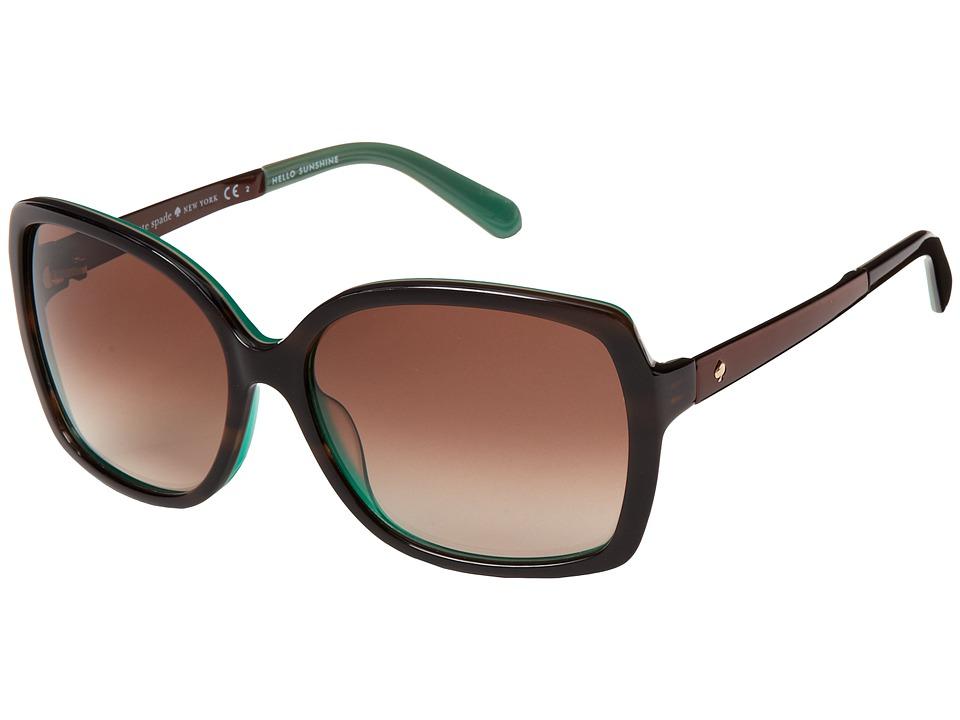 Kate Spade New York - Darilynn/S (Brown Horn Jade/Brown Gradient) Fashion Sunglasses