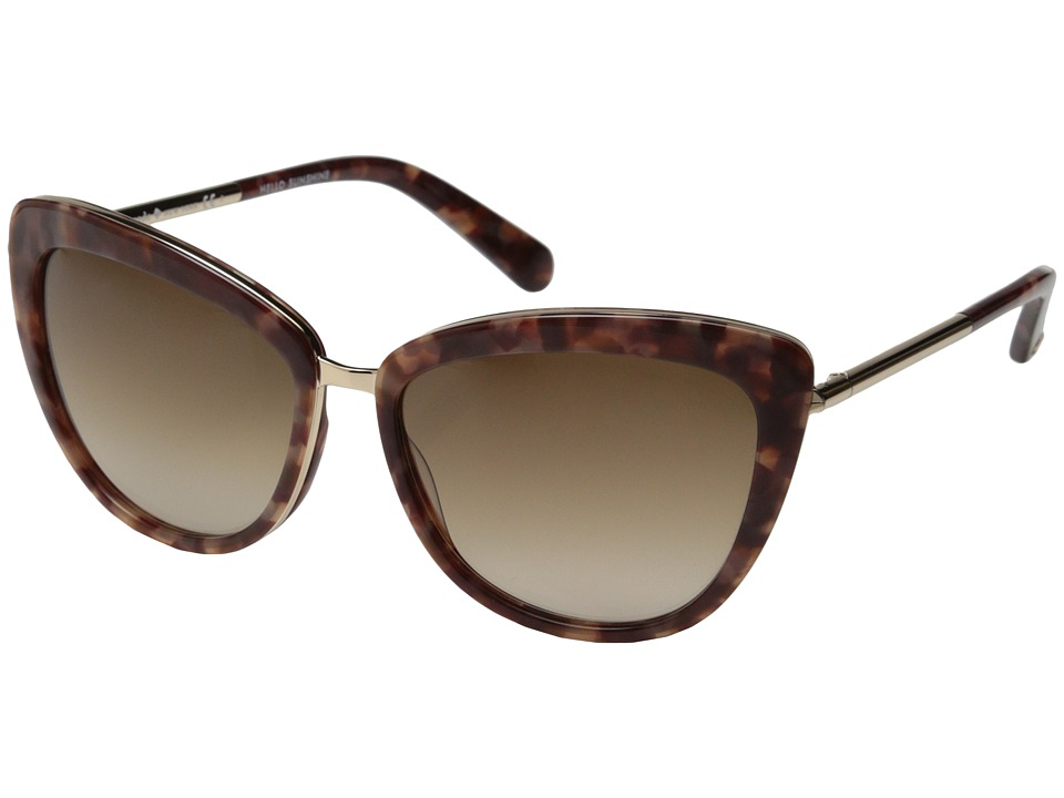 Kate Spade New York - Kandi/S (Blush Tortoise/Warm Brown Gradient) Fashion Sunglasses