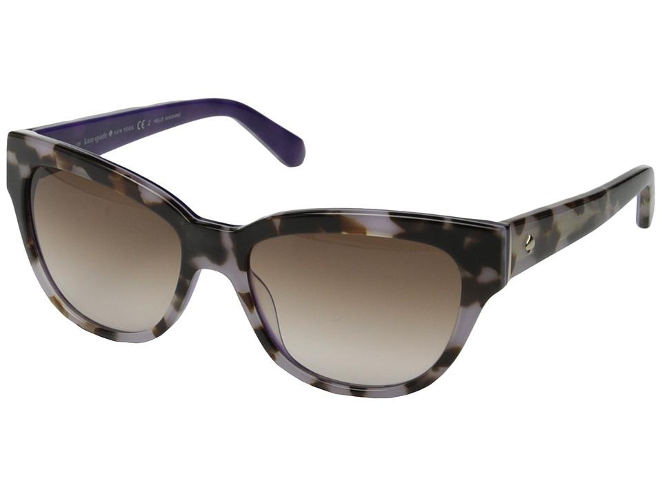 Kate Spade New York - Aisha/S (Tortoise Lavender/Warm Brown Gradient) Fashion Sunglasses