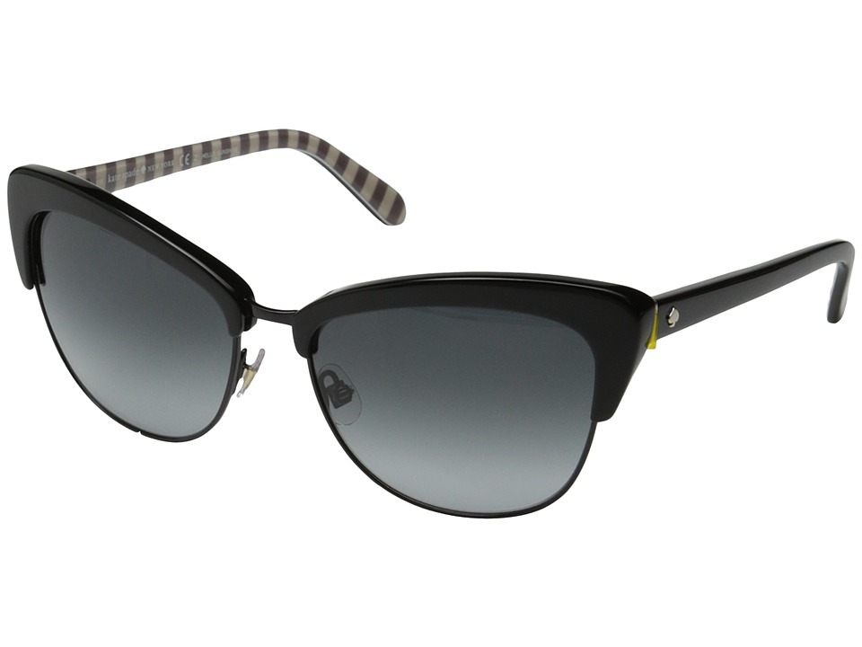 Kate Spade New York - Genette/S (Black/Gray Gradient) Fashion Sunglasses