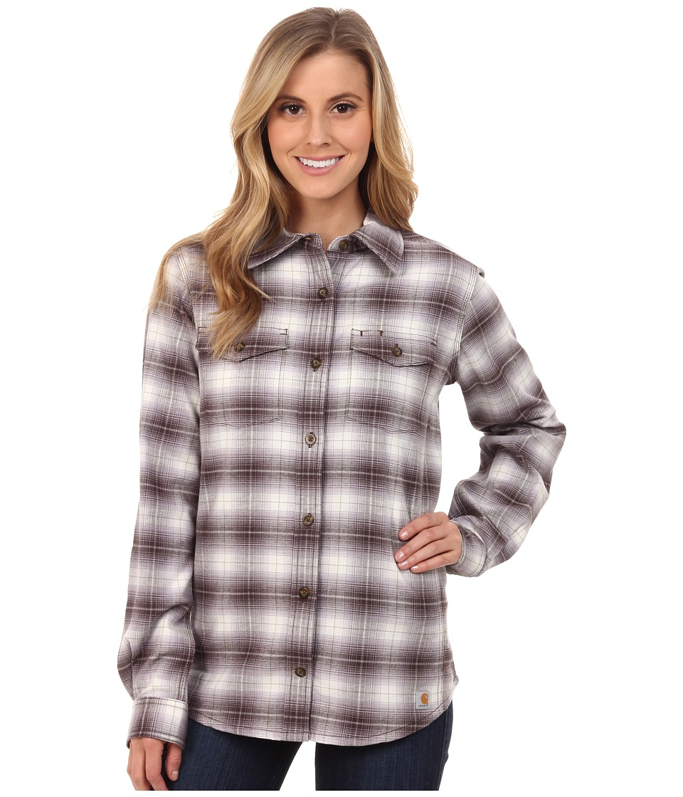 Carhartt - Hamilton Flannel Shirt II (Dark Shale) Women's Clothing
