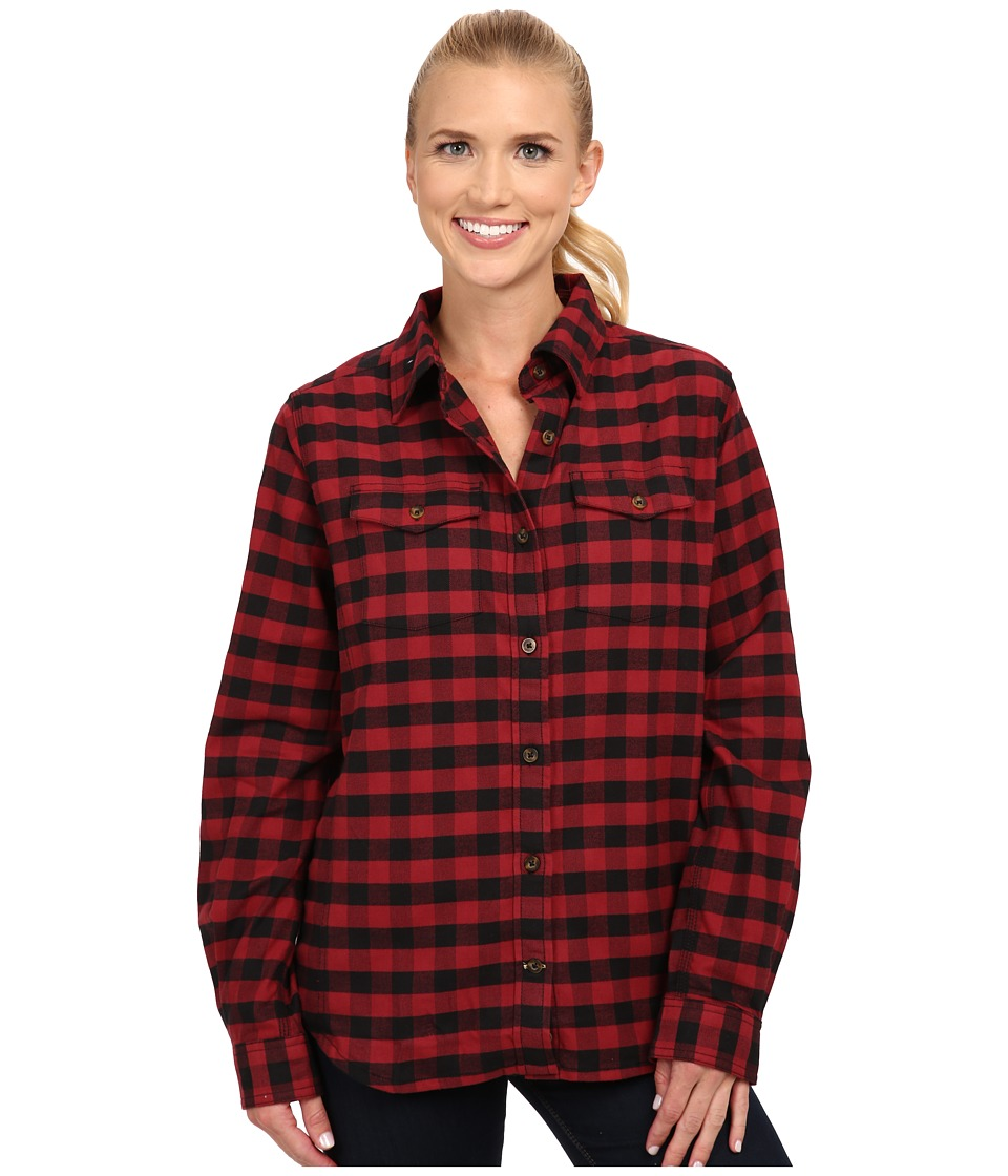 Carhartt - Hamilton Flannel Shirt II (Dark Red) Women's Clothing