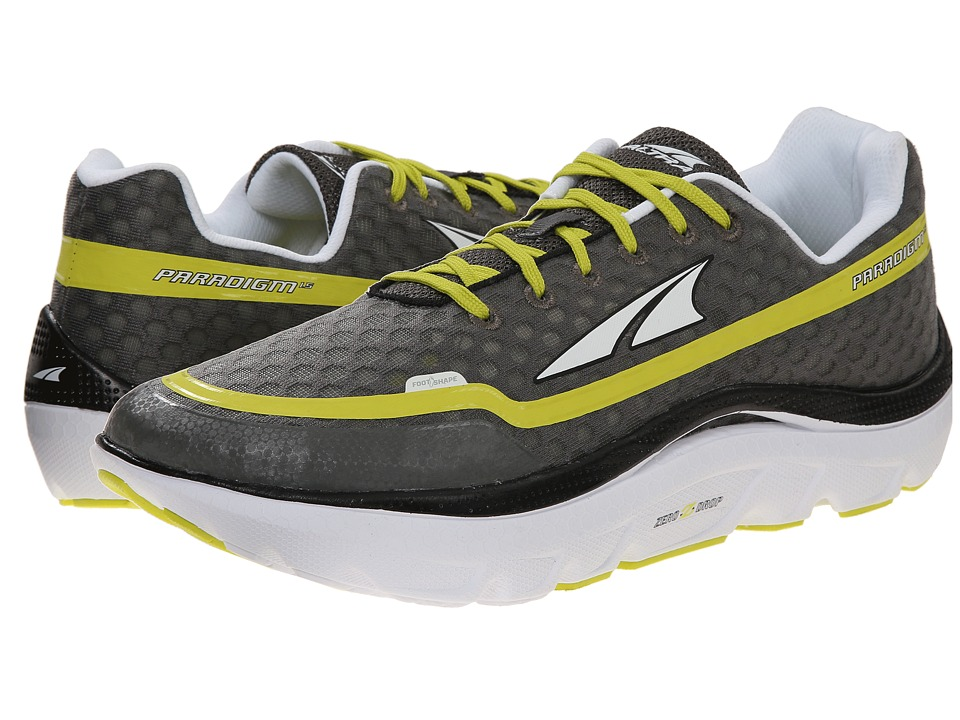 Altra Footwear - Paradigm 1.5 (Charcoal Lime) Men's Running Shoes