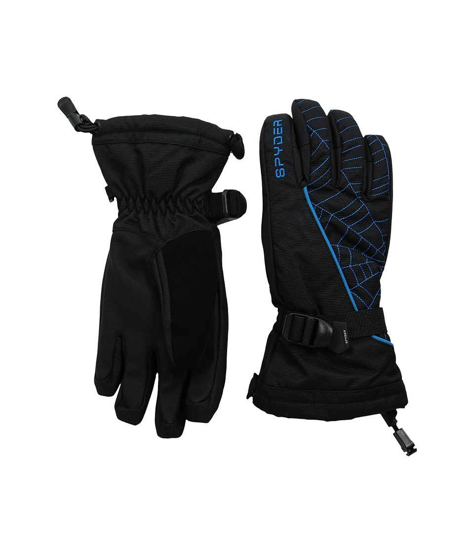 Spyder Kids - Overweb Ski Glove (Big Kids) (Black/Electric Blue) Ski Gloves