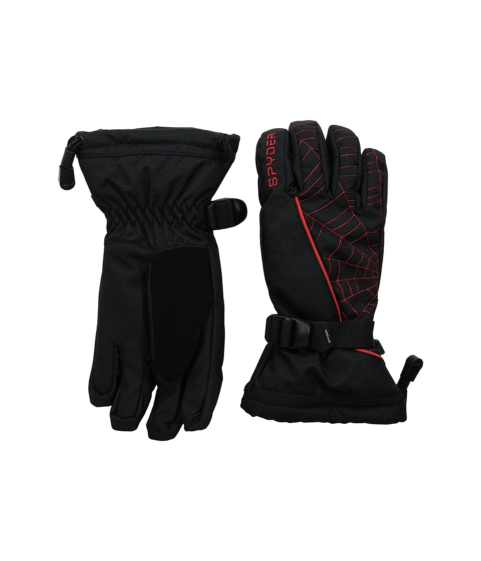 Spyder Kids - Overweb Ski Glove (Big Kids) (Black/Volcano) Ski Gloves