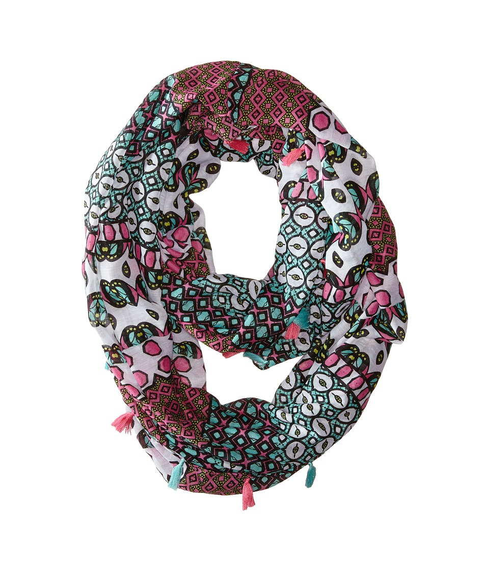 Steve Madden - Exotic Graphic Infinity Scarf (Pink) Scarves