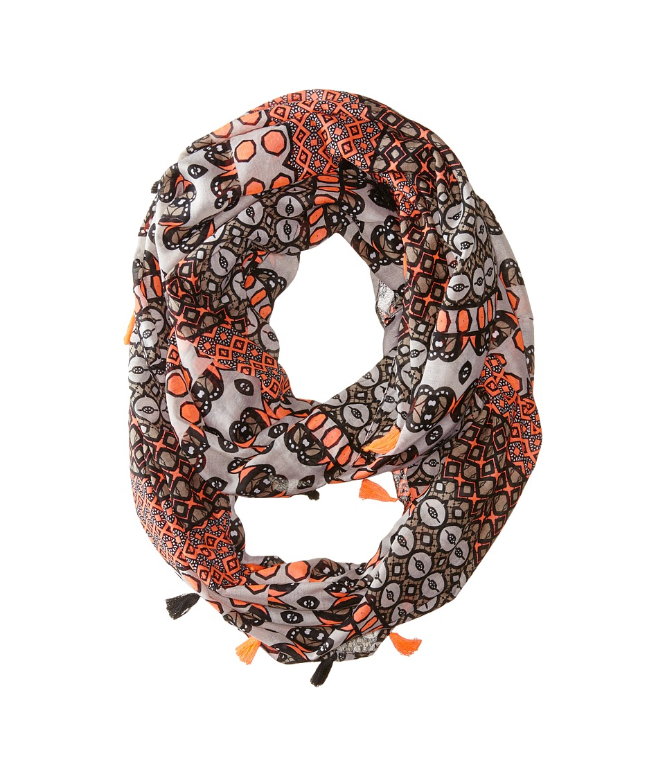 Steve Madden - Exotic Graphic Infinity Scarf (Taupe) Scarves