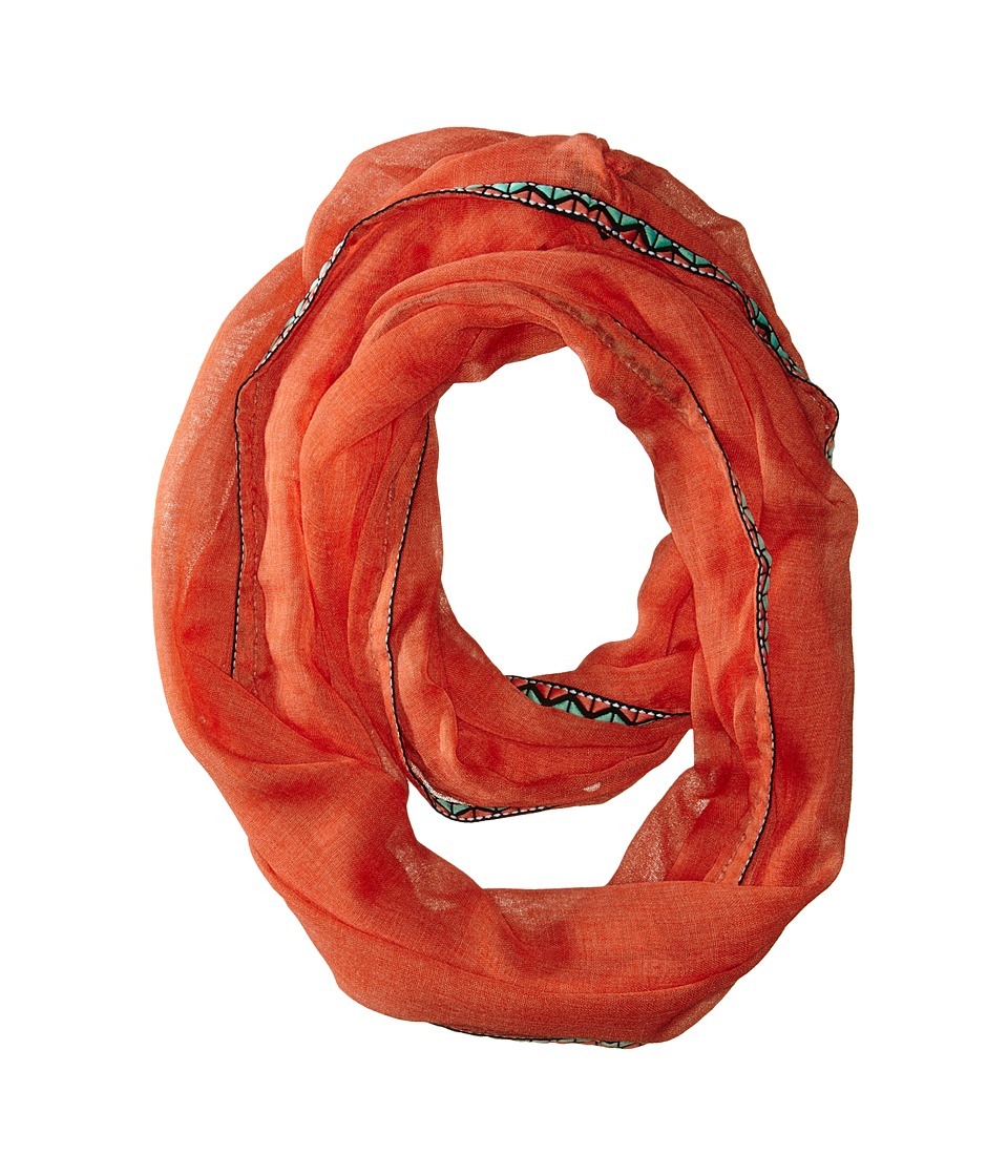 Steve Madden - Touch Of Tribal Infinity Scarf (Orange) Scarves