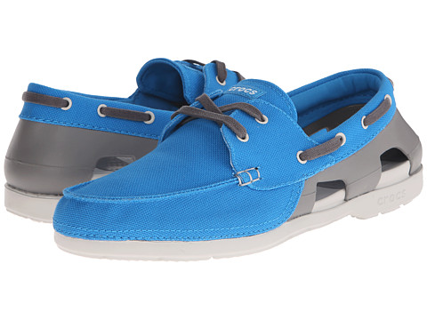 Crocs - Beach Line Lace-Up Boat (Ocean/Smoke) Men's Lace up casual Shoes