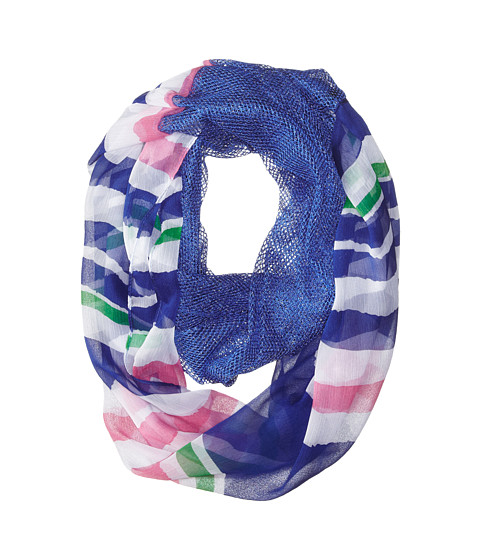 Steve Madden - Stripe It Up Half and Half Infinity Scarf (Royal) Scarves
