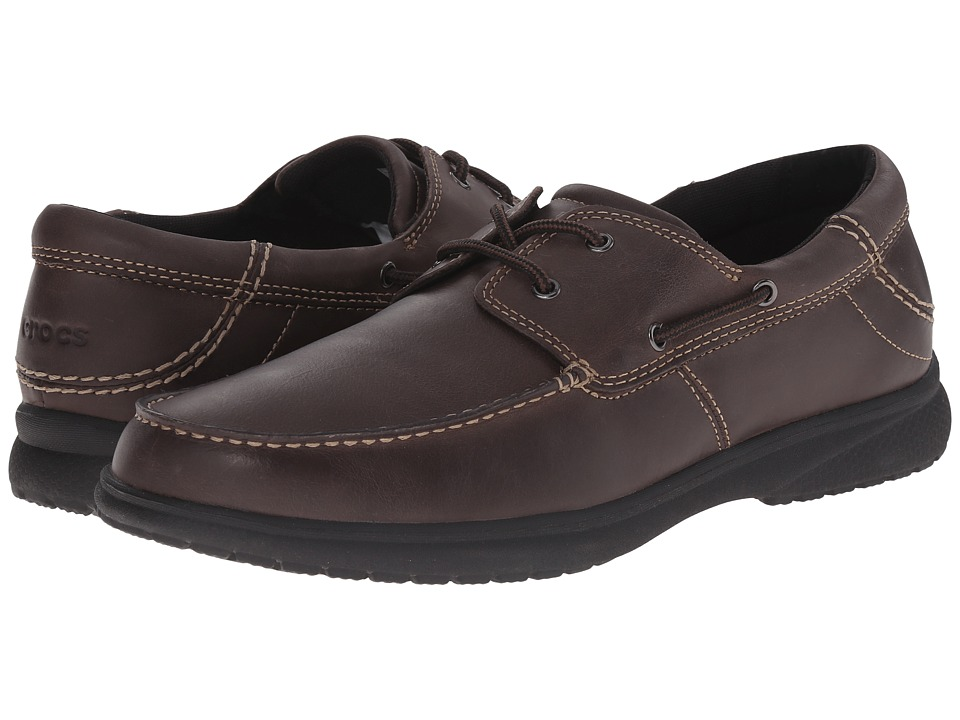 Crocs - Shaw Boat Shoe (Espresso/Black) Men