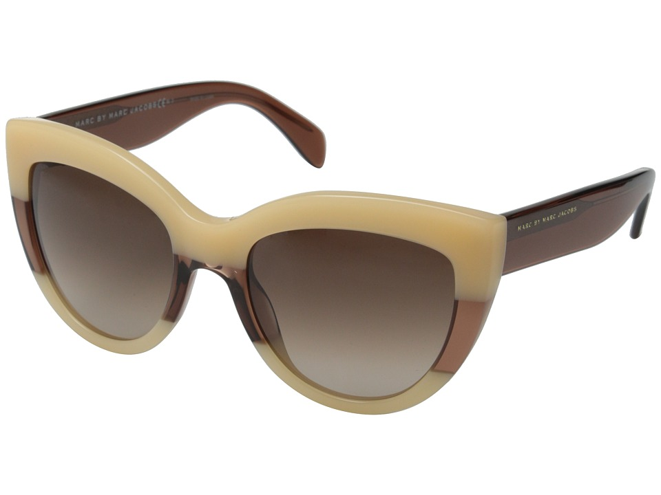 Marc by Marc Jacobs - MMJ 455/S (Orange Brown/Brown Gradient) Metal Frame Fashion Sunglasses