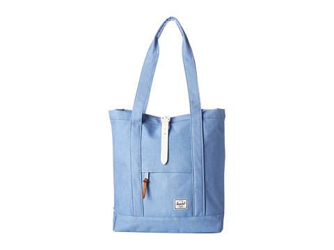 Herschel Supply Co. - Market (Chambray Crosshatch/White Rubber) Tote Handbags