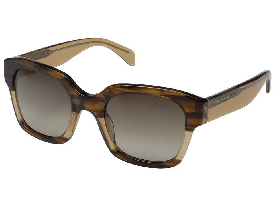 Marc by Marc Jacobs - MMJ 457/S (Havana Beige Beige/Brown Gradient) Metal Frame Fashion Sunglasses