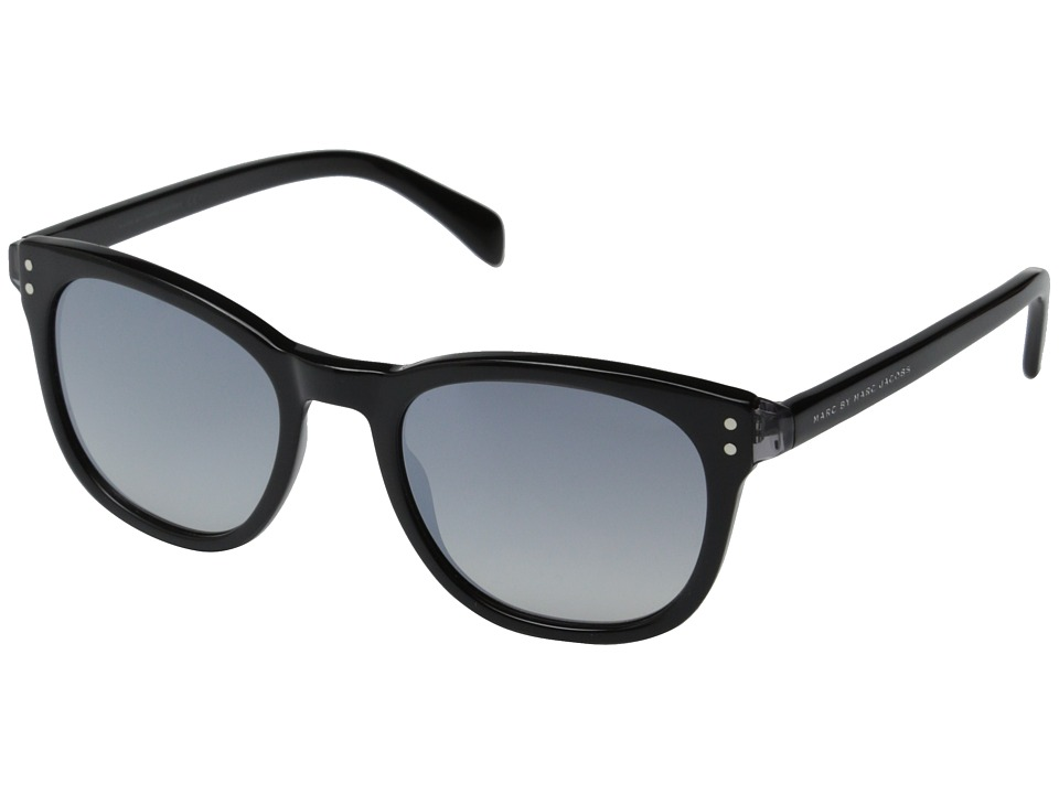 Marc by Marc Jacobs - MMJ 458/S (Black Black/Gray Mirror Gradient Silver) Metal Frame Fashion Sunglasses