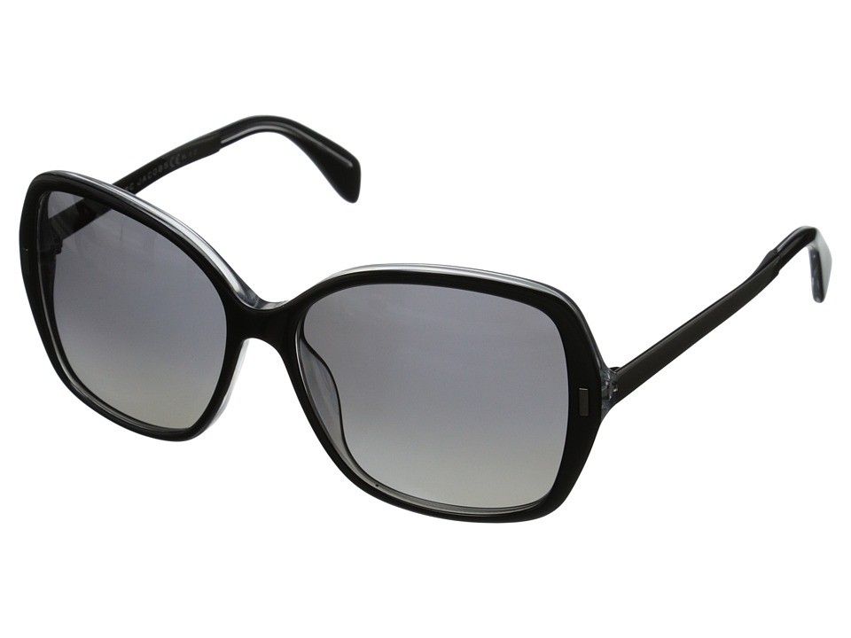 Marc by Marc Jacobs - MMJ 462/S (Crystal Black/Gradient Shade Polarized) Metal Frame Fashion Sunglasses