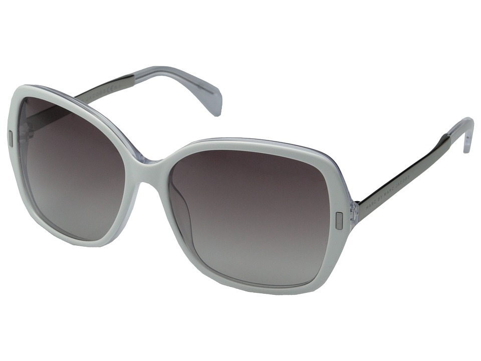 Marc by Marc Jacobs - MMJ 462/S (Crystal White Ruthenium/Gray Gradient) Metal Frame Fashion Sunglasses