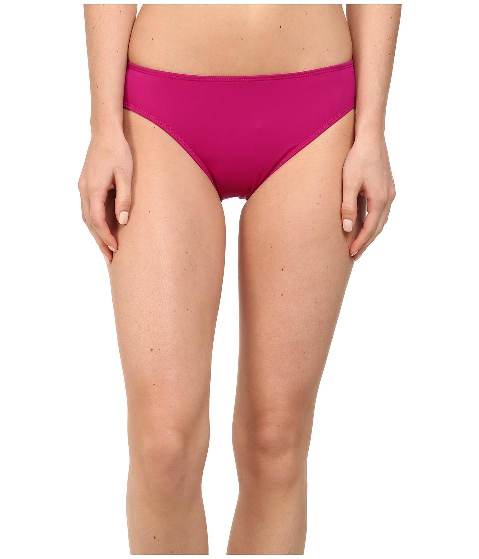 LAUREN Ralph Lauren - Laguna Solids Hipster Bottom w/ Logo Plate (Pink Hibiscus) Women's Swimwear