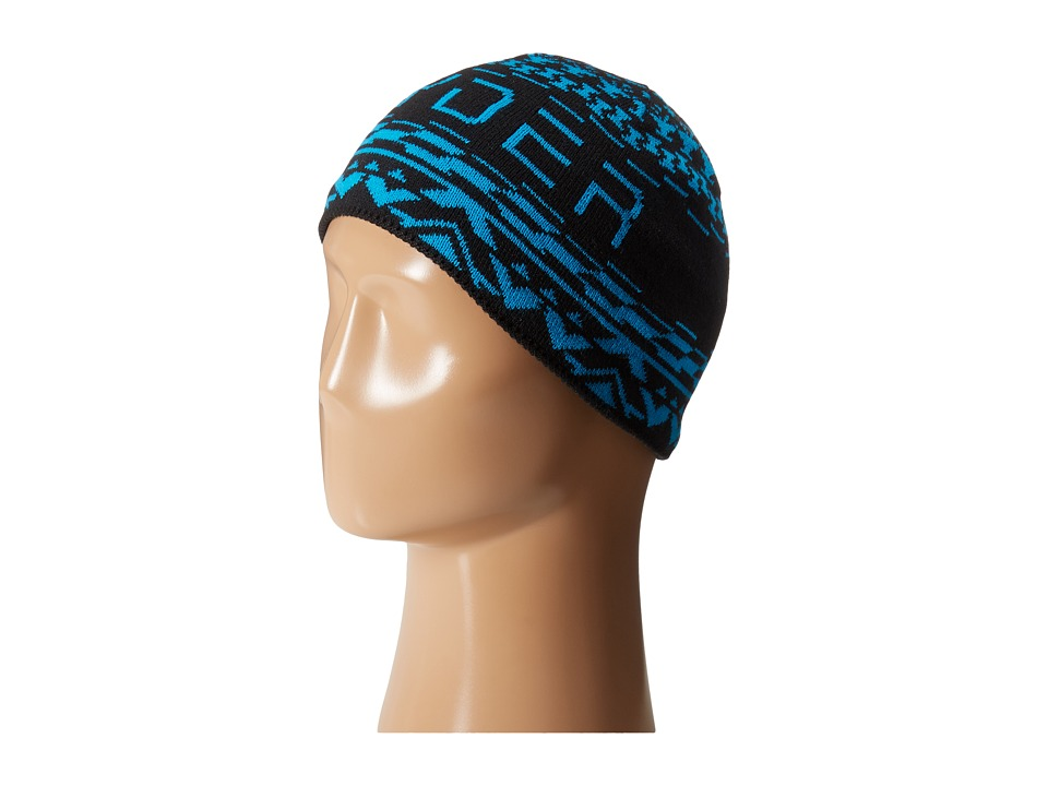 Spyder Kids - Throwback Hat (Big Kids) (Black/Electric Blue) Beanies