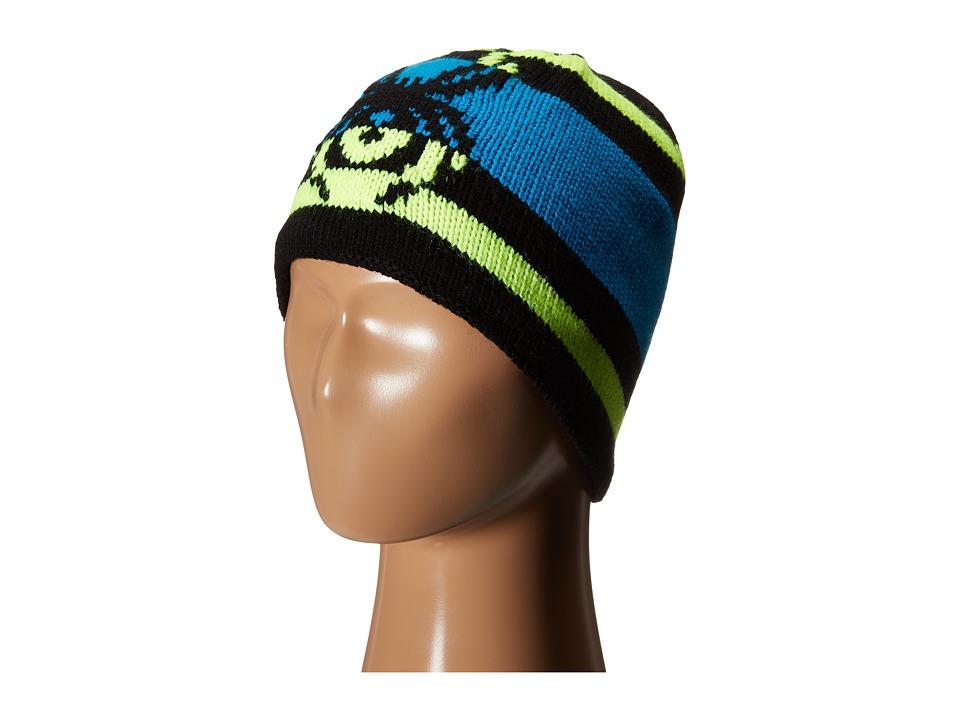 Spyder Kids - Mission Hat (Big Kids) (Black/Bryte Yellow/Electric Blue) Beanies
