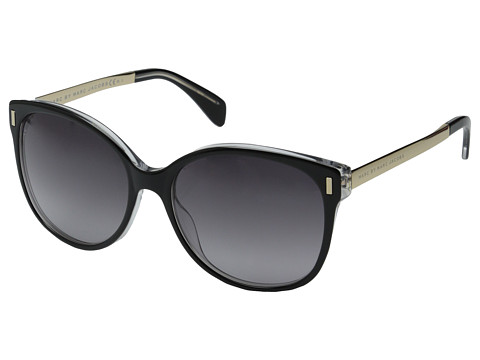 Marc by Marc Jacobs - MMJ 464/S (Black Crystal/Gray Gradient) Metal Frame Fashion Sunglasses
