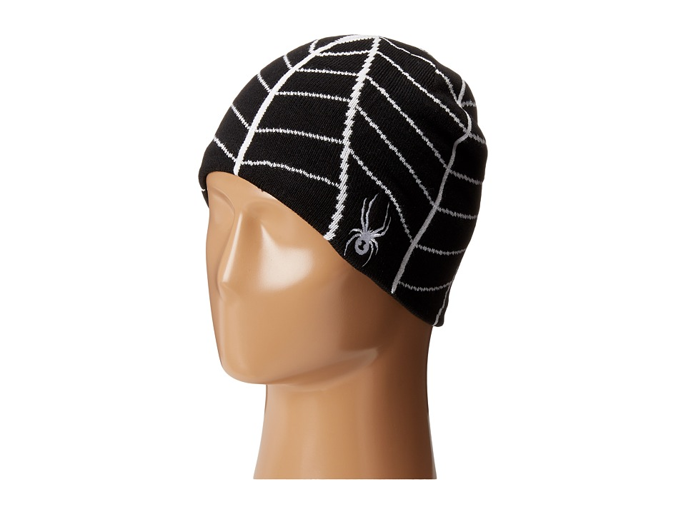 Spyder Kids - Web Hat (Big Kids) (Black/White) Beanies