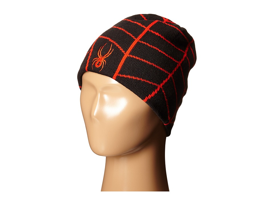 Spyder Kids - Web Hat (Big Kids) (Black/Volcano) Beanies