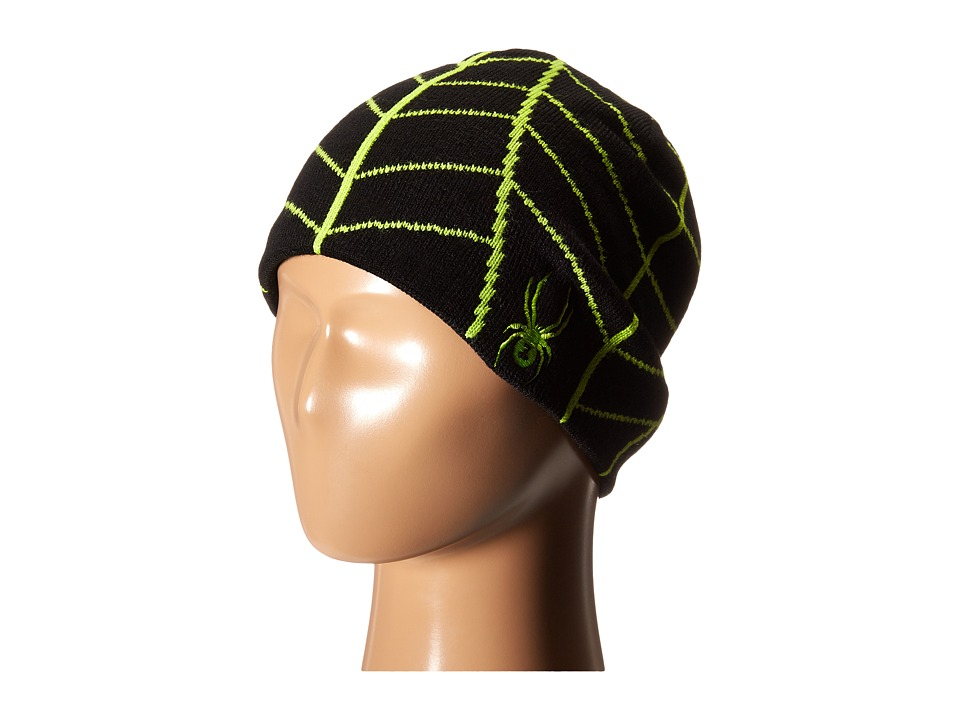 Spyder Kids - Web Hat (Big Kids) (Black/Theory Green) Beanies