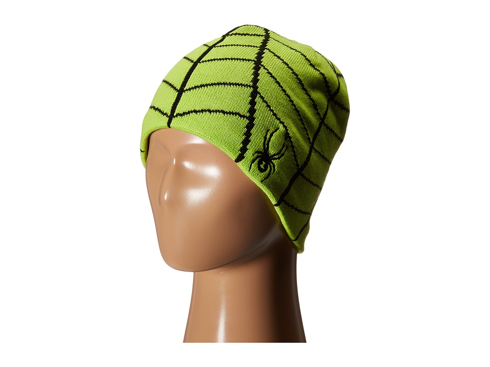 Spyder Kids - Web Hat (Big Kids) (Theory Green/Black) Beanies