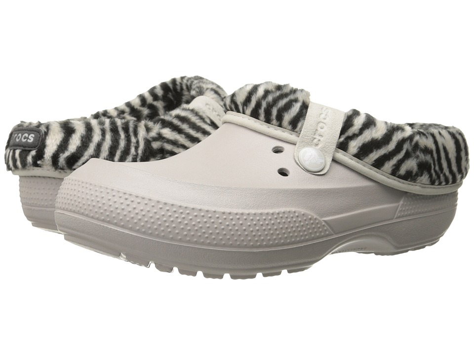 Crocs - Blitzen II Animal Print Clog (Platinum/Black) Clog Shoes